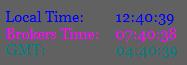 MT5 Clock Time Indicator